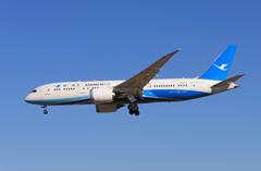 「青い空」が一番XIAMEN 787-8 B-2762着陸