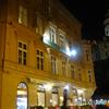 チェコ南部(533)夜のチェスキー・クルムロフ城の塔