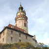 チェコ南部 (683) チェスキー・クルムロフ城の塔