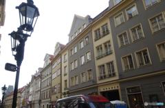 チェコ(504)プラハの街並みと道路