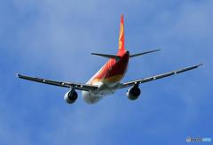 「あおぞら」 Hong Kong A320 飛び立ちです