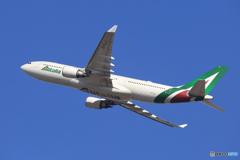 「蒼空」Alitalia A330-202 EI-EJJ  ☀ 出発です