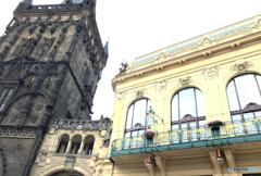 プラハ(393)火薬塔とアール・ヌーヴォー様式