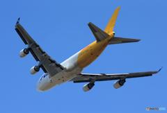 「青い日」 POLAR 747-400 N453PA Takeoff