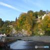 チェコ南部(643)ヴァルタバ川からの風景です