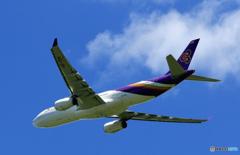 ☀「青い空」が一番 Thai A330-343 HS-TEN 飛ぶ