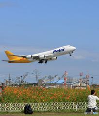 「ぶるー」 POLAR 747-87UF N857GT 飛行