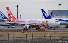 「青の空」Air Asia ロッテワールドHS-XTD 出発