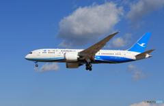 「ぶるー」 厦門航空 787-8 B-2763 通過