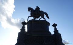 ドレスデン(508)ヨハン王のシルエット像