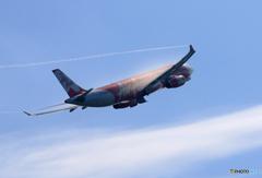 「あおぞら」 Air Asia A330 ベイパー 飛び立ちです