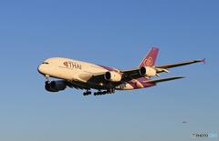 「あおぞらTHAI A380-841 HS-TUB 到着です