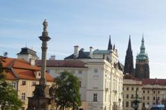 チェコ(351) プラハ城が見える