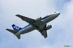 「曇り」ANA 737-500 JA356K  出発します