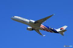 「青の空」Malaysia A350-941 9M-MAF  Takeoff