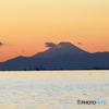 ☀「あおぞら」淡い色の富士山と東京湾