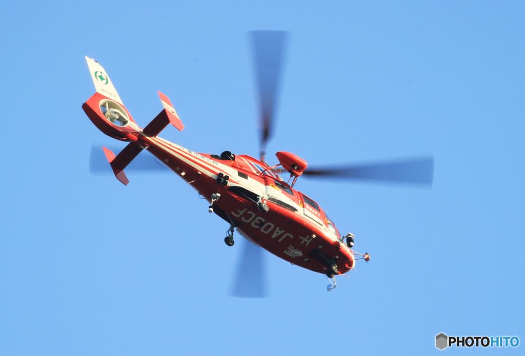「蒼空」消防航空隊へり AS365N3 JA03CF