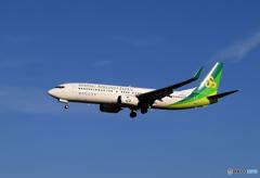 「あおぞら」 春秋航空 A320 JA05GR 到着です