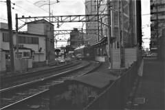 西院駅にて