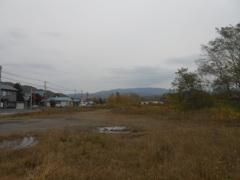 新二岐駅跡地(夕張本町方面を望む)