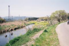 越辺川の河川敷にて