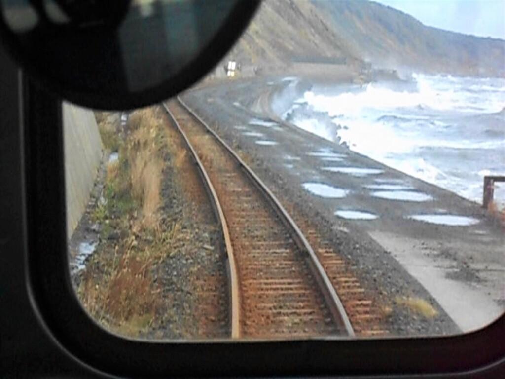 日高本線の車窓から