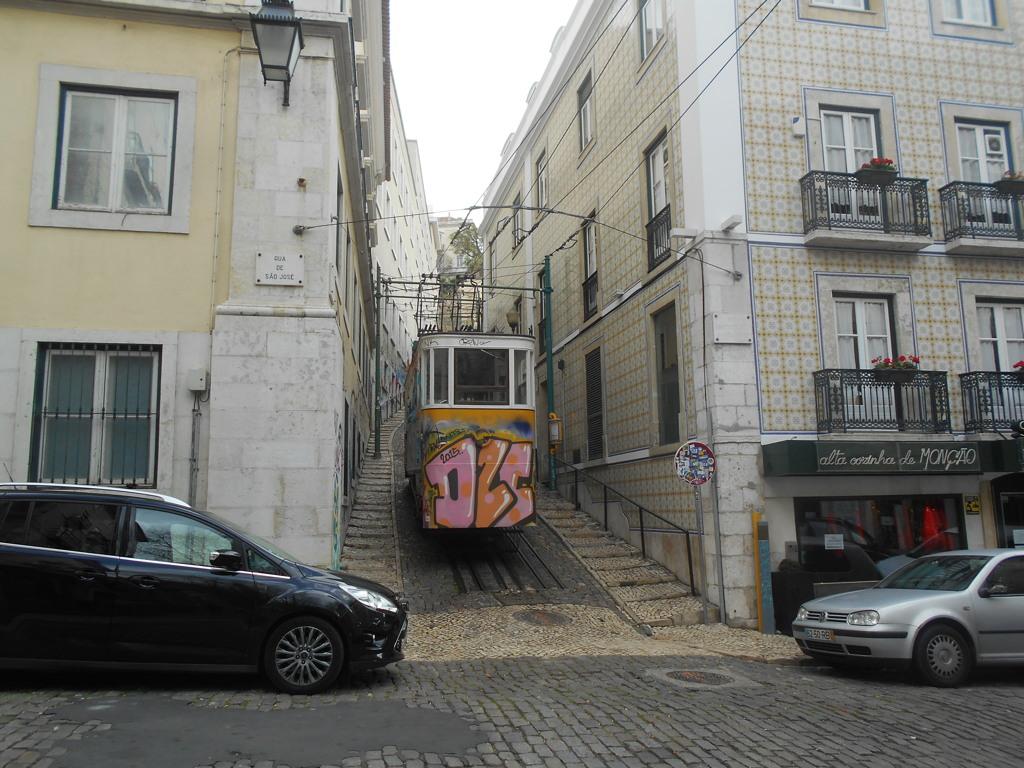 リスボンの馬面電車