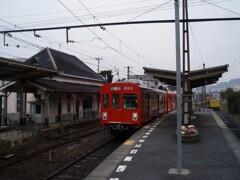 琴電屋島駅にて