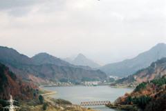 只見湖と蒲生岳