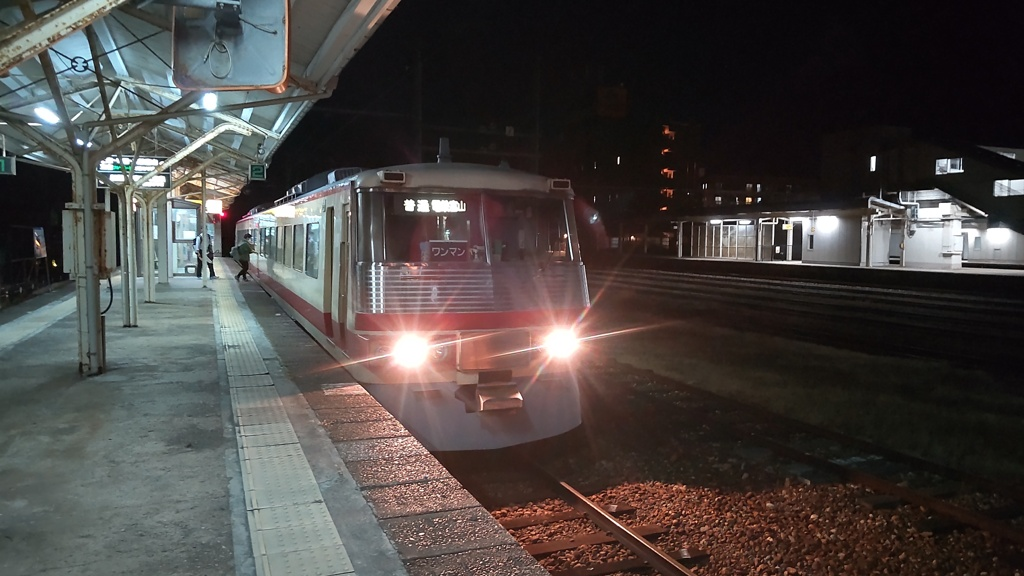 新魚津駅にて