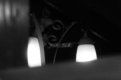 梁から見える灯り