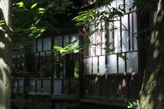 七社神社 社殿を結ぶ廊下