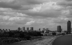 荒川河川敷からの眺め