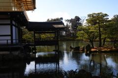 金閣寺の池