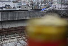 新幹線を待ちながら