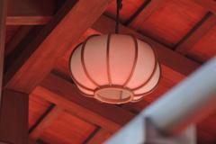 太鼓橋の灯り