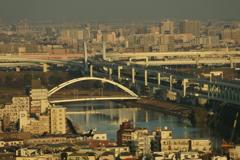 北とぴあ~隅田川にかかる橋