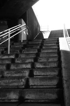 河川敷に続く階段