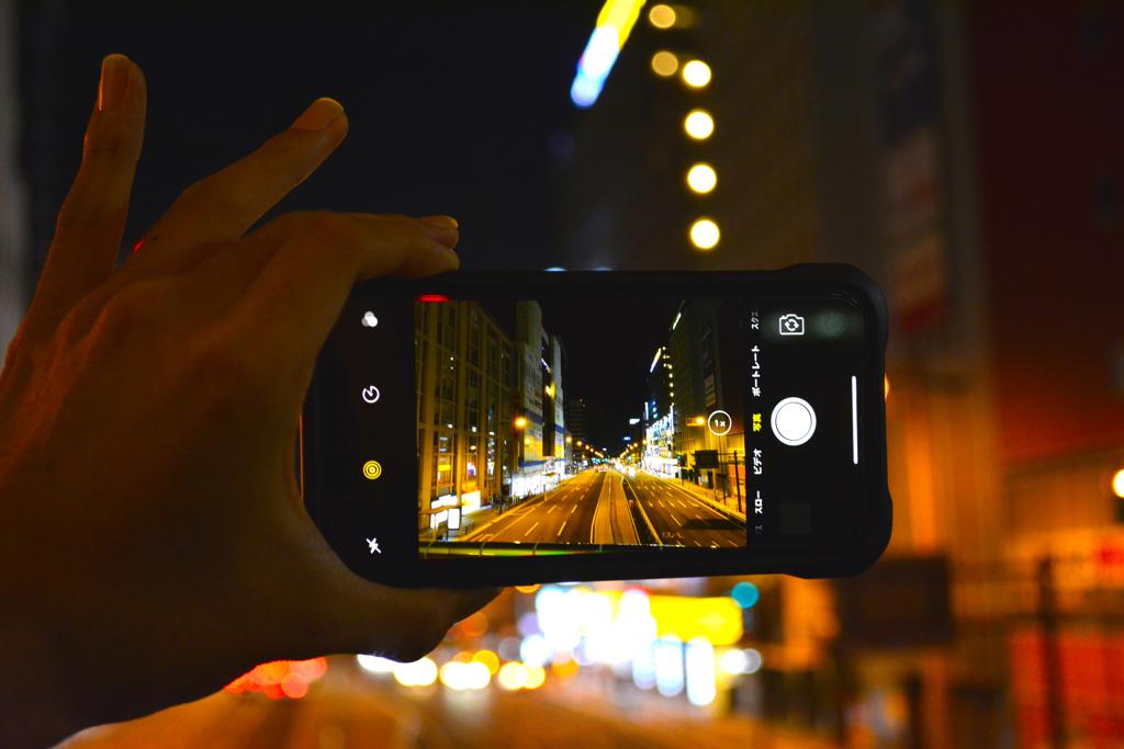 iPhone越しの世界