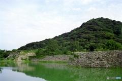 萩城天守台と指月山2003