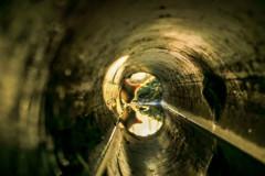 コンクリート管を覗いてみたら