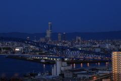 なにはや大橋からの夕景 夜景