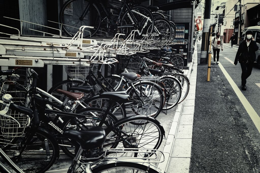自転車ガチャガチャ