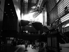 京都駅の広場