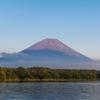 本栖湖上からの富士山