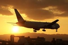 Sunset landing ✈️