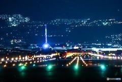 千里川土手の夜景✈️✨