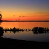 北浦湖畔の夜明け