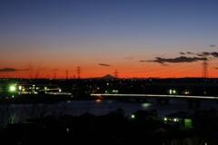 水郷から望む富士