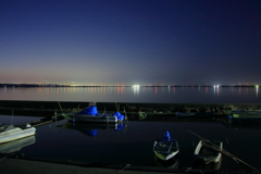 夜明けの船溜まり